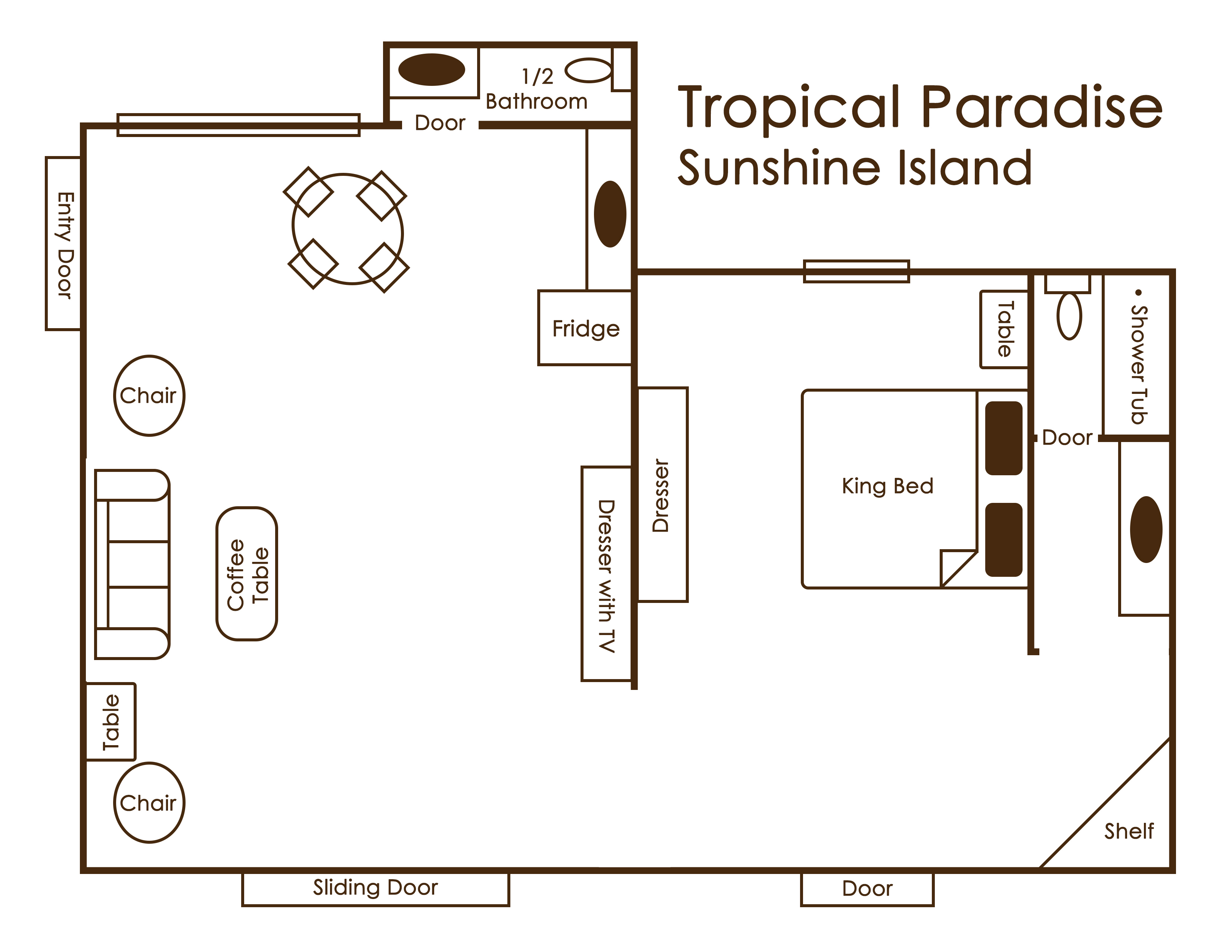 tropical paradise sunshine island